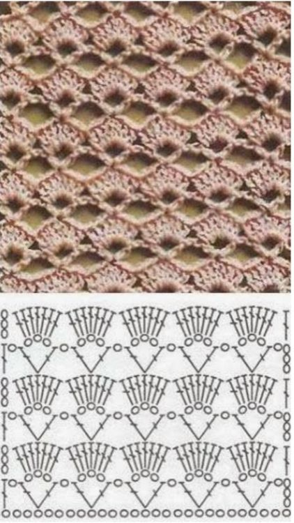 The Arcade Stitch Creates A Beautiful Airy Lacy Look And Is Simply A Crochet Chart Crochet Stitches Crochet Motif