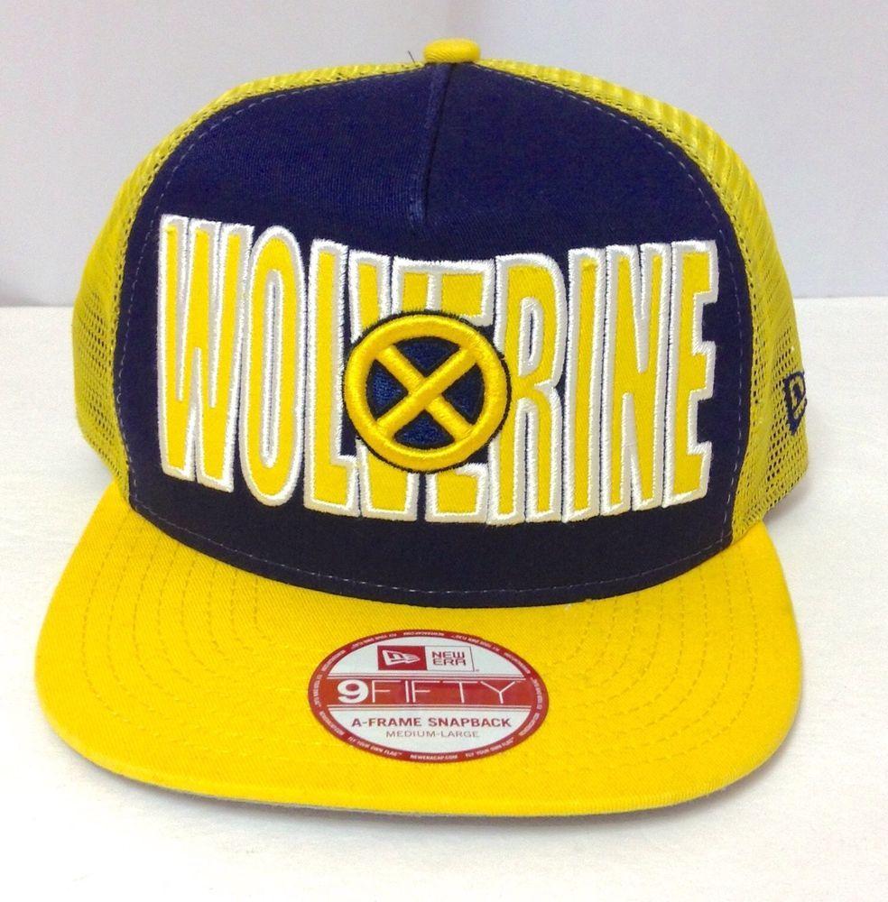 NWT 25 New Era WOLVERINE SNAPBACK HAT Marvel Trucker Navy-Blue Yellow  Michigan  NewEra  Trucker 90ffb051b2fc