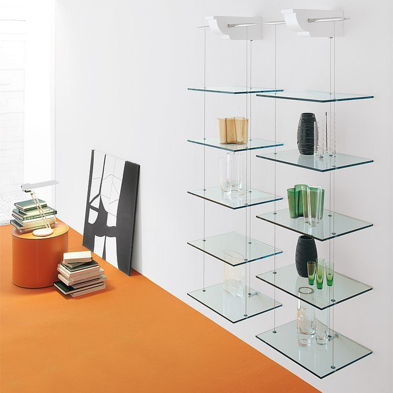 4 Awesome Bookcase Designs For The Trendy Modern Home In 2021 Glass Wall Shelves Glass Shelves Decor Glass Shelves
