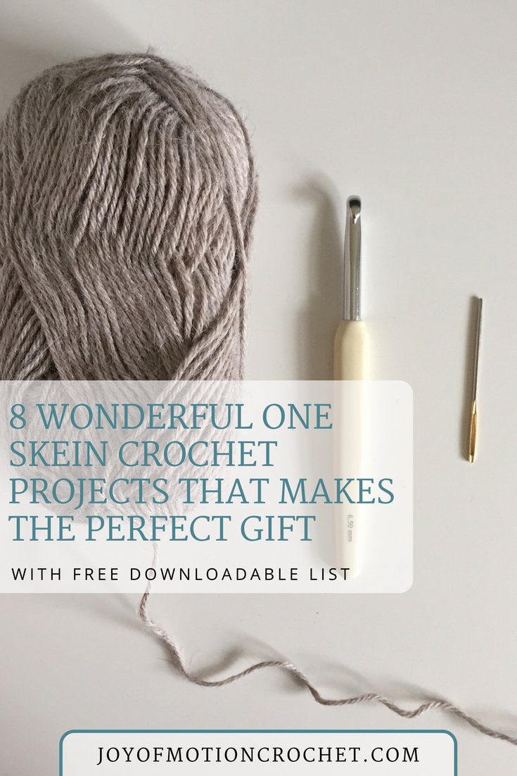 Got a single skein? Here\'s 8 one skein crochet projects: