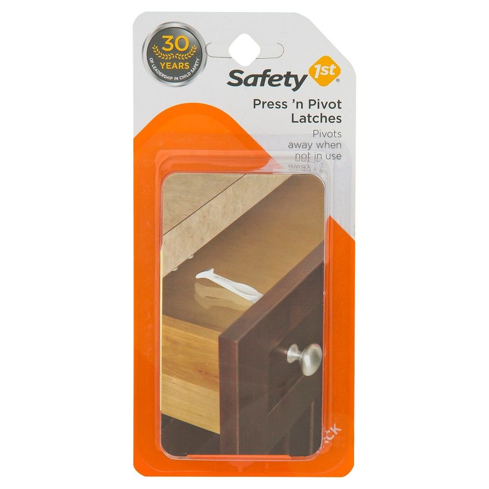 Safety 1st - Press 'n Pivot Latches - 4 Pack,