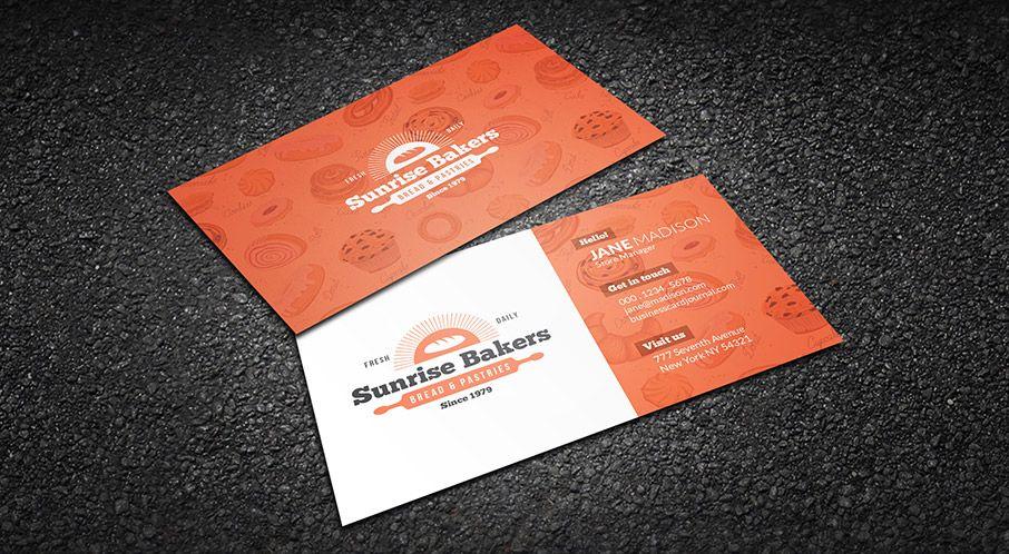 Download Httpbusinesscardjournalcomjoyfulorangebakery - Editable business card templates free