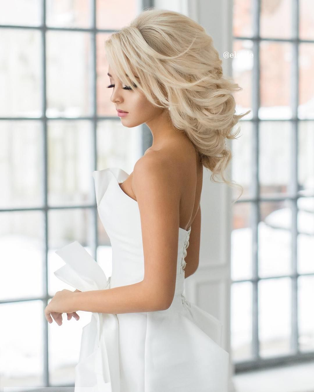 bridal hairstyle | wedding | bride | photo | blonde | updo | elegant ...