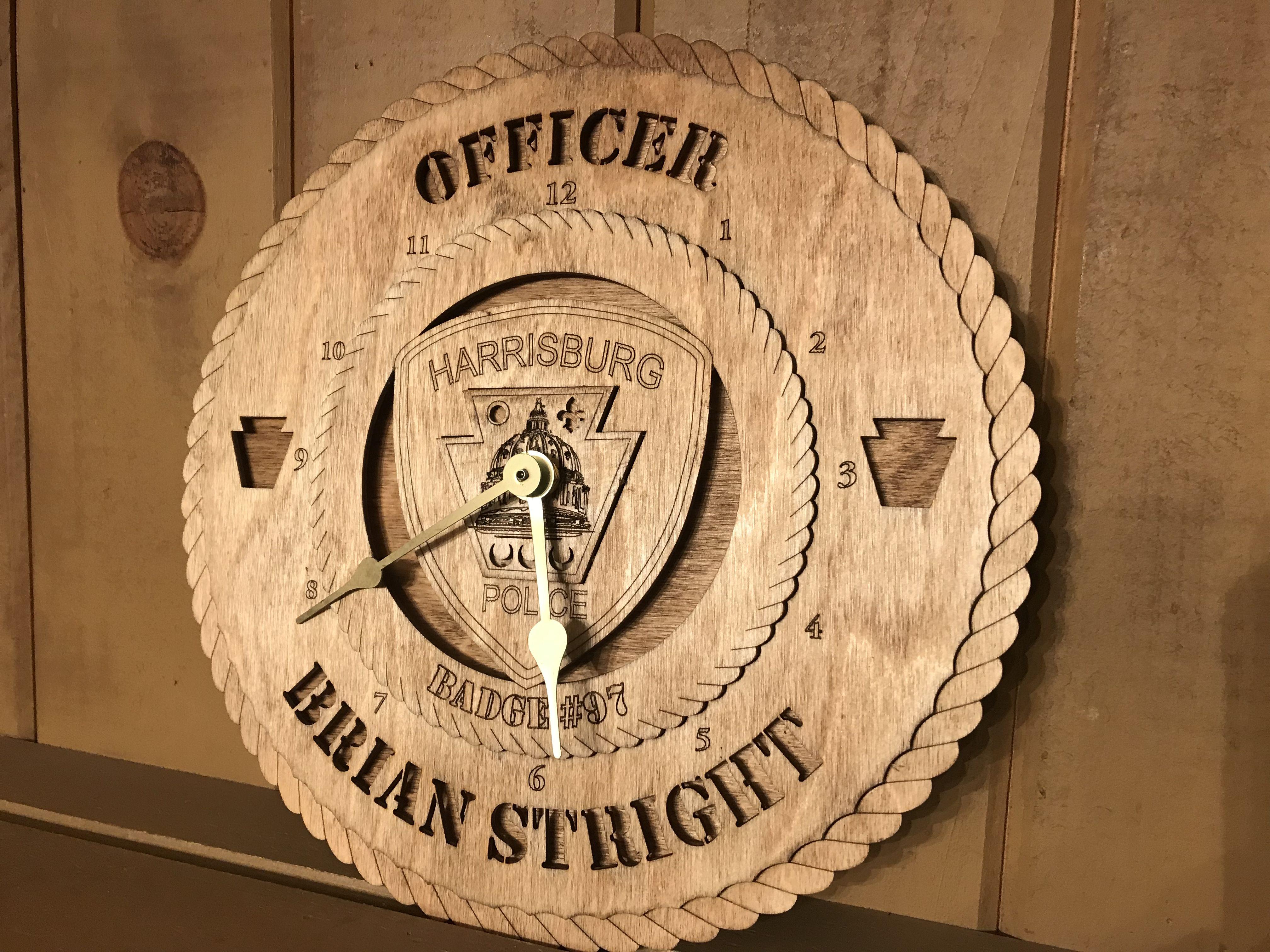 Harrisburg pa police dept clock wall clock harrisburg