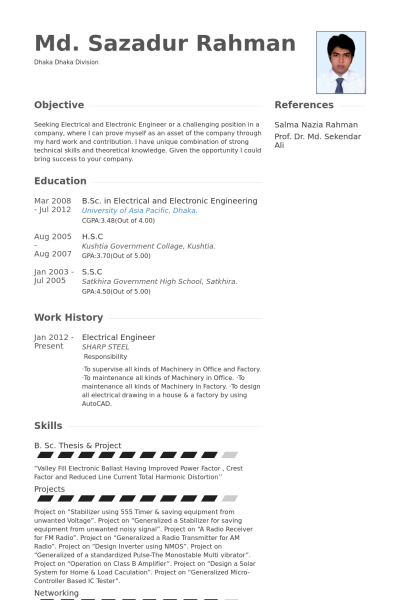 Resume Examples Electrical Engineer   Resume Examples   Pinterest ...