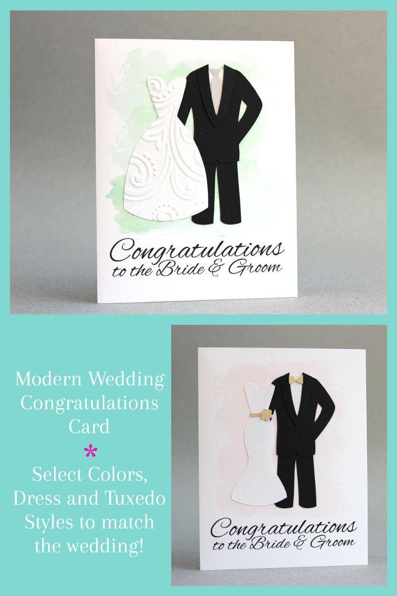 Beautiful handmade wedding card for the newlyweds on their wedding ...