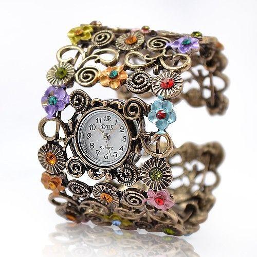 Exklusive: Blumen Armreif Uhr *Einzelstück*