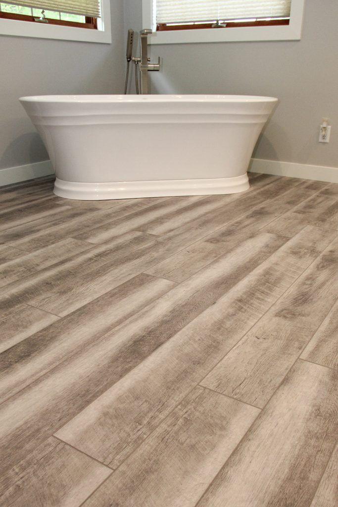 Driftwood Luxury Vinyl Plank Bathroom Floor With Images Vinyl Plank Flooring Bathroom Luxury Vinyl Plank Luxury Vinyl Plank Flooring