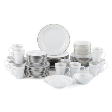 JCPenney Home™ Regency Gold 72pc. Porcelain Dinnerware