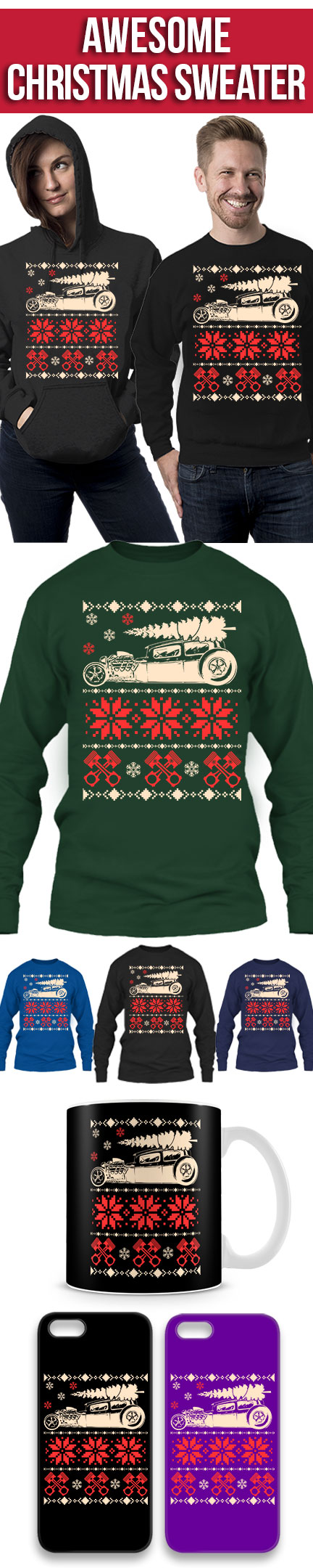 Limited Edition Ford Mustang Christmas Sweater Click The Image To
