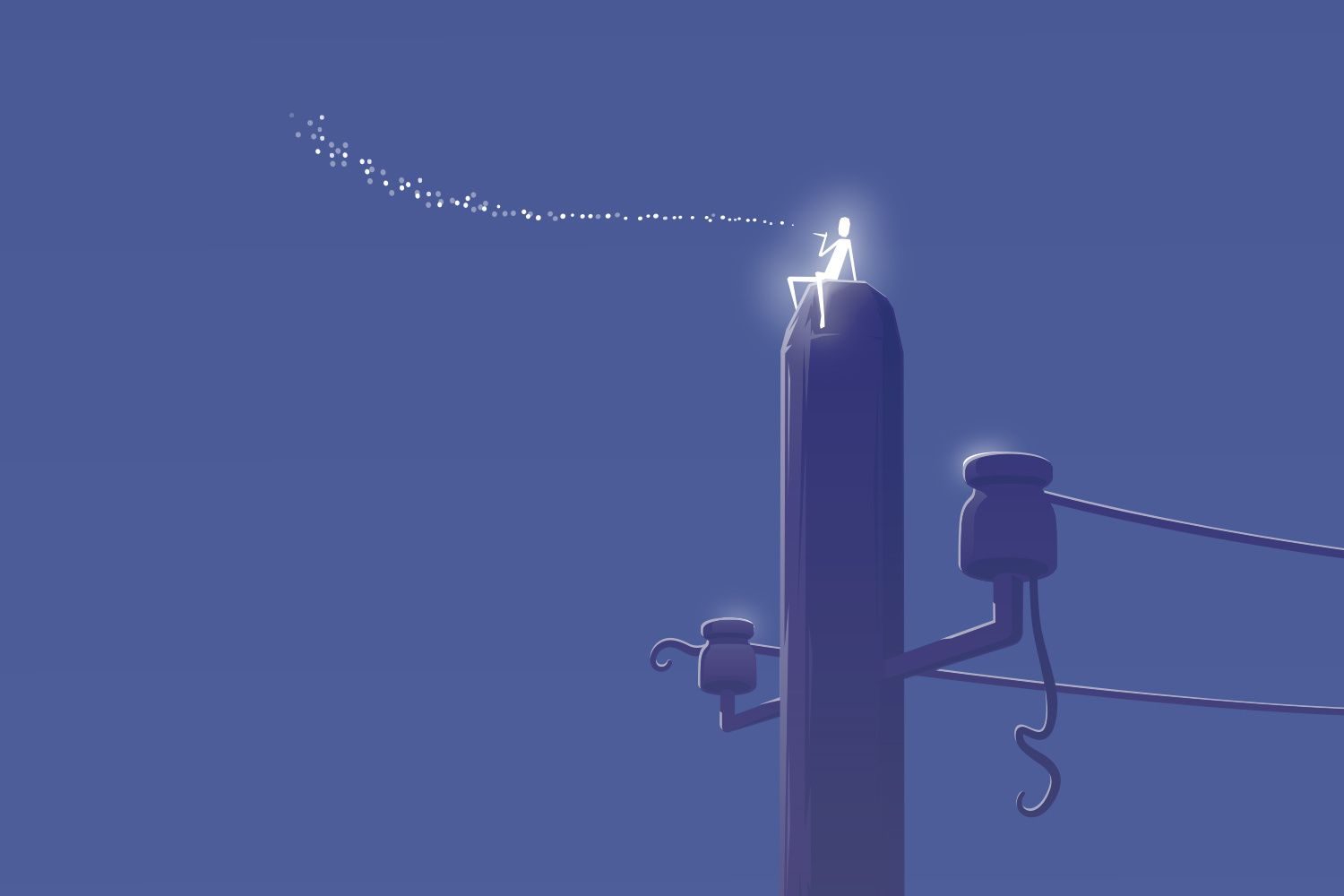 fairy blowing stars from telephone post. http://www.maxsaladrigas.work/