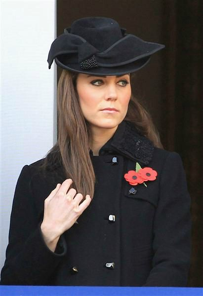 Kate, looking regal and solemn on Remembrance Day, November 13, 2011.   The day is dedicated to remembering all those who died in the line of duty.