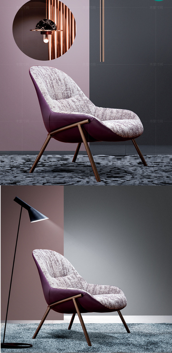 Living Room Single Sofa Chair Italian Style Simple Chair With