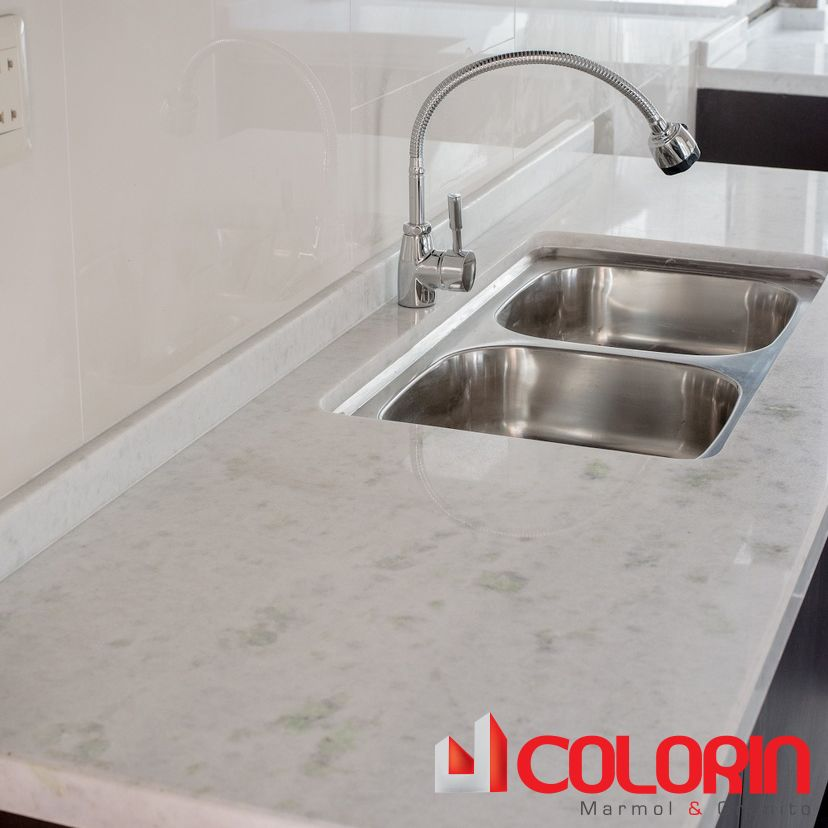 Meson de cocina marmol blanco fortaleza mesones de - Marmol de cocina ...