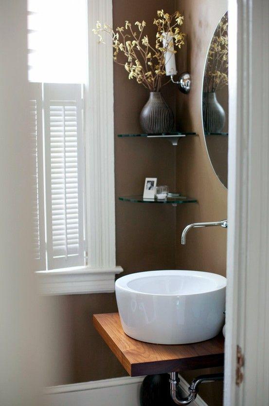 Chocolate Bathroom Walls For The Home Bathroom Powder