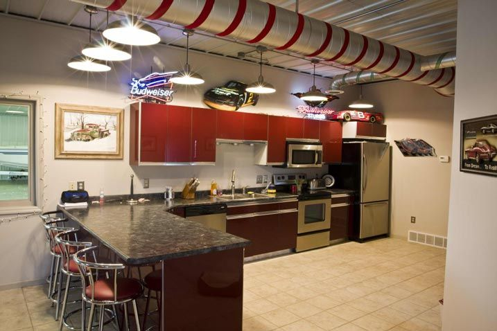 Awesome Metal Man-cave/Hobby Garage for Your Pleasure! (HQ Pictures)   Metal…