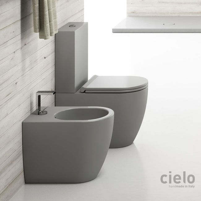 Monoblock Toilet With Cistern Without Lid Mini 62 Anthracite