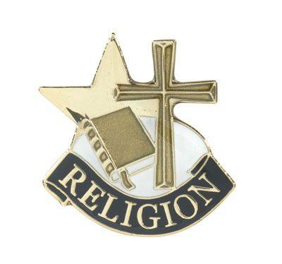 Religious Cross Achievement Lapel Pins