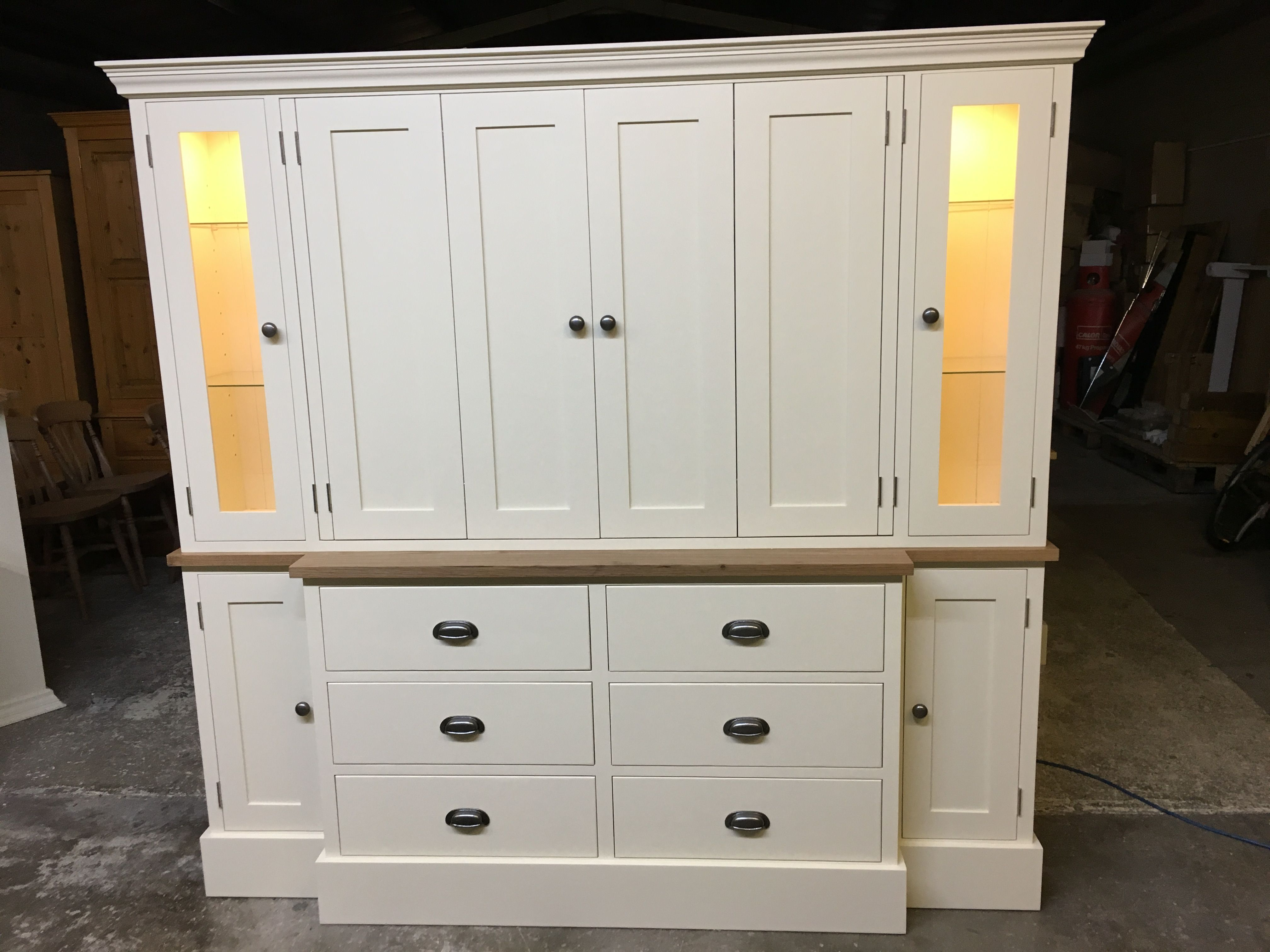 Beautiful Lounge / TV Unit. Painted In Fu0026B House White. Bespoke And Made To