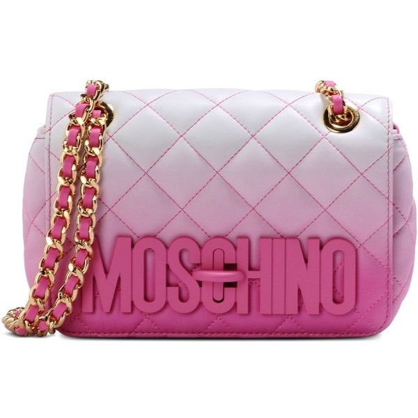 ac5adbcafeba Moschino Shoulder Bag (880 AUD) ❤ liked on Polyvore featuring bags ...