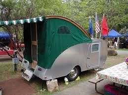 Other Side View With Awning And Weather Skirt Teardrop Trailer Teardrop Trailer Interior Teardrop Camping