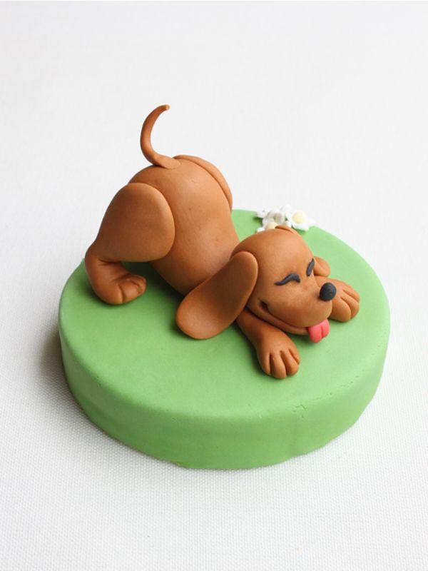 how to make a sugar paste dog
