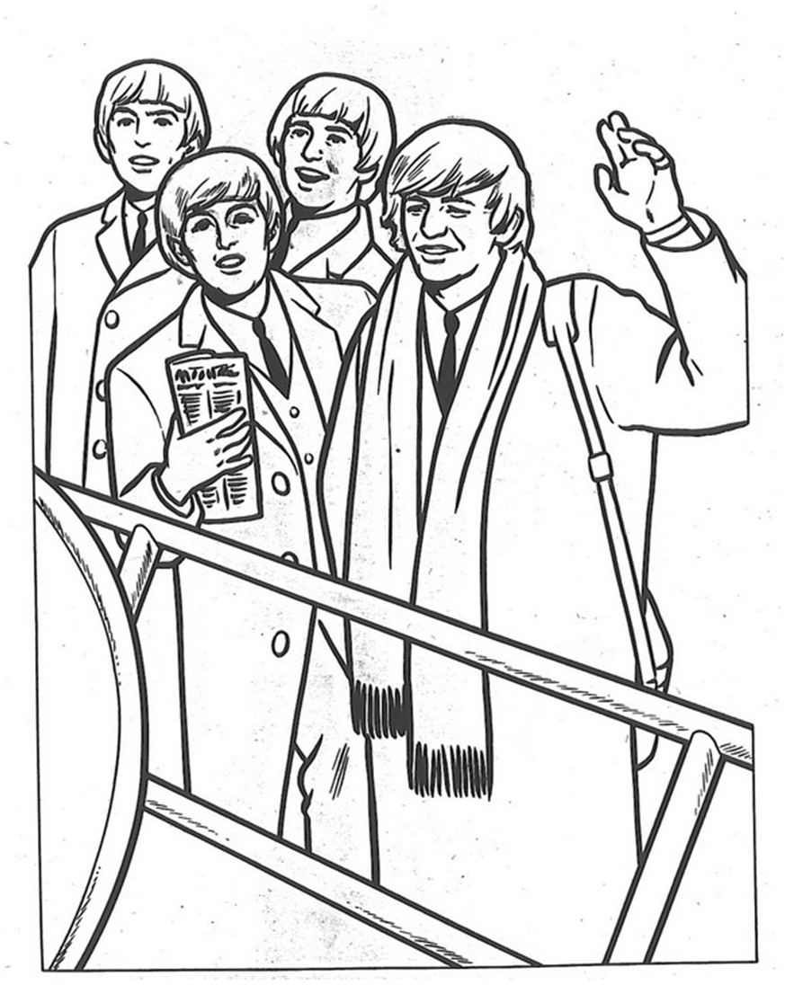 The Beatles coloring page | Coloring pages and Printables | Pinterest