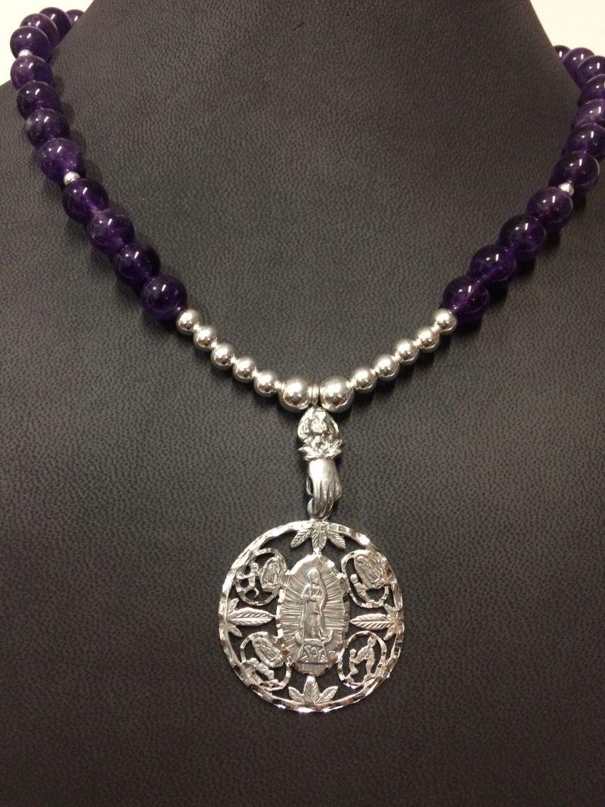 9f65f545f39a Collar de amatista virgen de Guadalupe Collar De Amatista