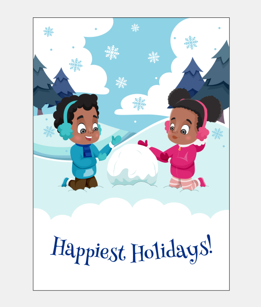 1182201e01cf Happiest Holidays African American Christmas Card Boxed Set ...