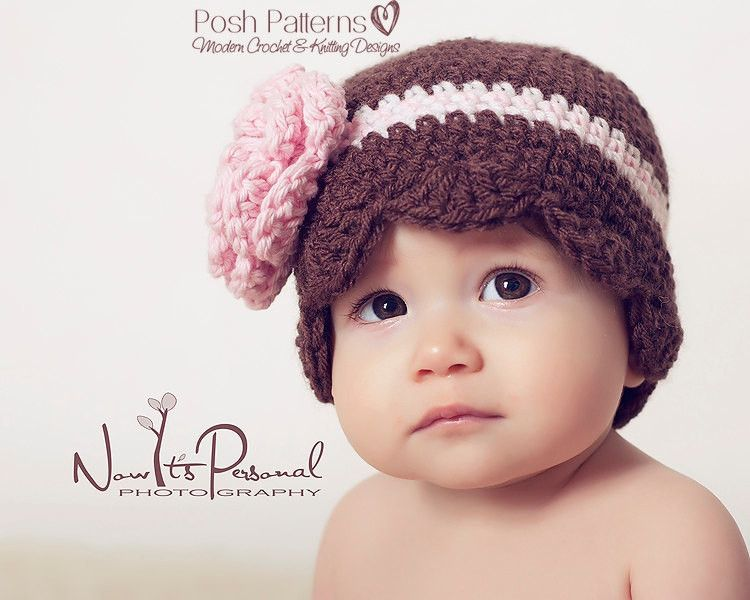 Crochet Patterns Crochet Baby Hat And Flower Pattern Crocheted