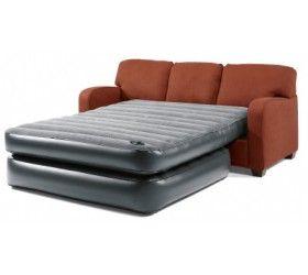 Flexaire Ii Queen Inflatable Mattress Sleeper Sofa Bed Couch Bathroom Windows