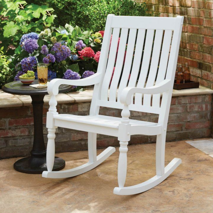 Pleasing Sams Club Members Mark Painted Wood Porch Rocker White Ibusinesslaw Wood Chair Design Ideas Ibusinesslaworg