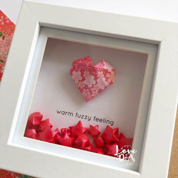 Photo of Origami HEART – Origami lucky star – Romantic gift – Moving stars – Valentines gift – Handmade gift