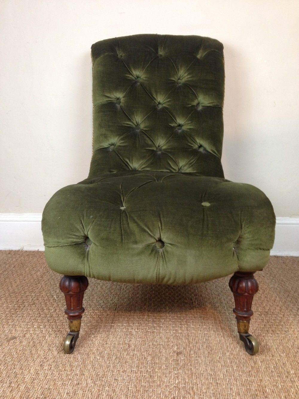 A Victorian Walnut Slipper Chair C 1880 275092