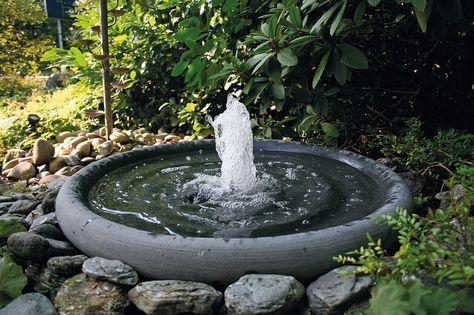 Stein-Gartenbrunnen Steinbrunnen Brunnen aus Stein - brunnen garten stein