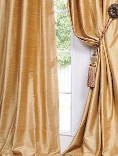 Sunrise Gold Dupioni Silk Curtains Drapes Silk Curtains