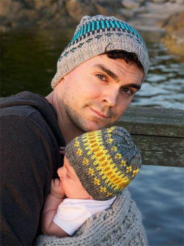 Wonderbaarlijk Papa en bijpassende babymuts breien (met afbeeldingen)   Breien en EC-32