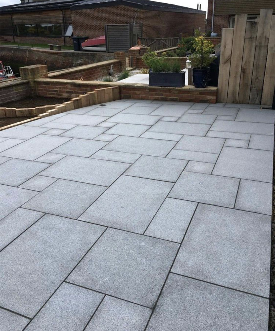 Pin By Manhattan Perry On Thorpe Ave Patio Slabs Patio Garden Design Granite Paving