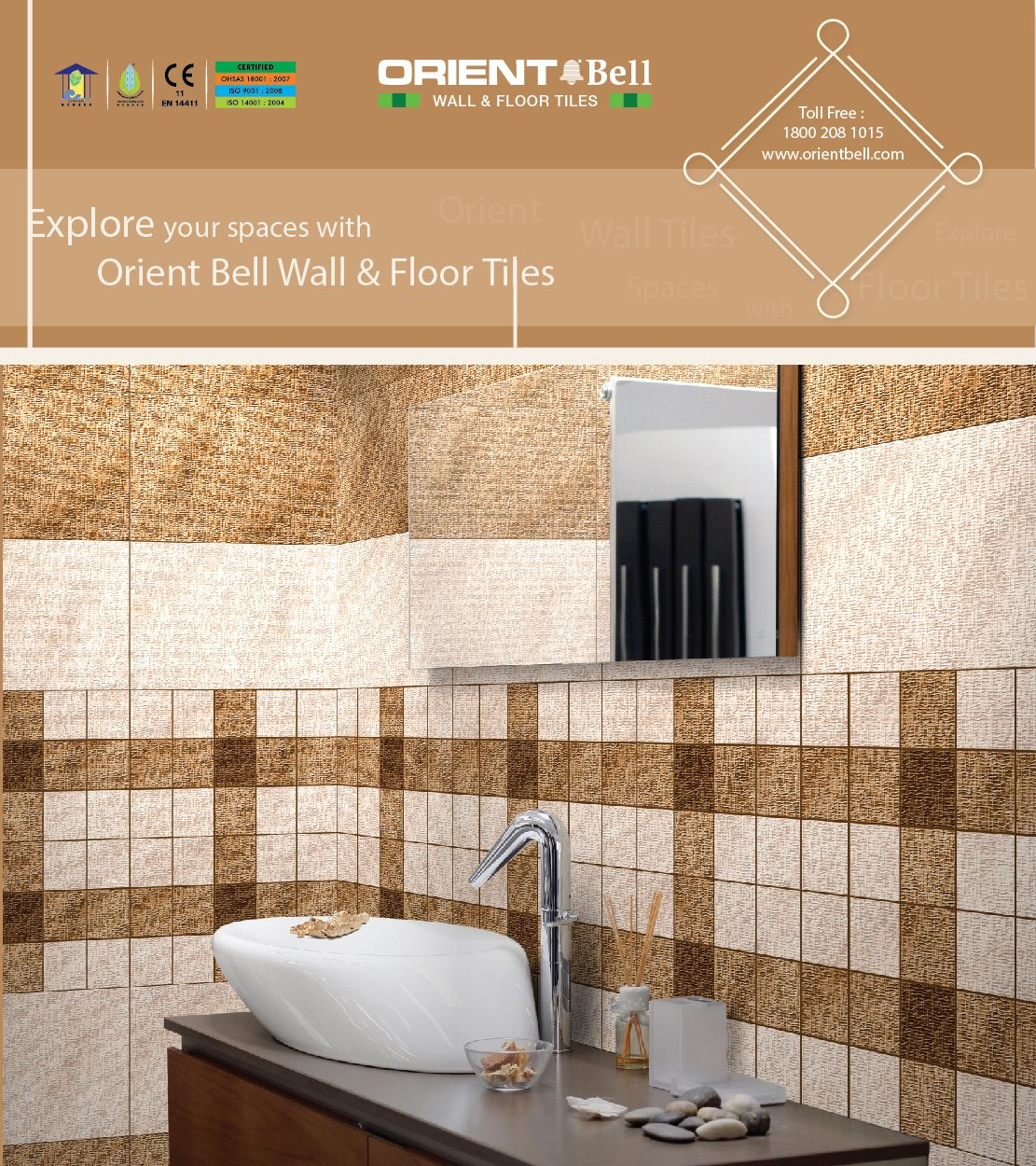Explore Your Spaces With Orient Bell Wall Floor Tiles Bathroom