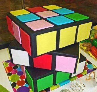 Rubix Cube Cake. A winner in the North Carolina State Fair