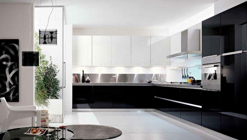 Cuisine Noir Et Blanche Moderne Blanc Stunning Davidreed Co