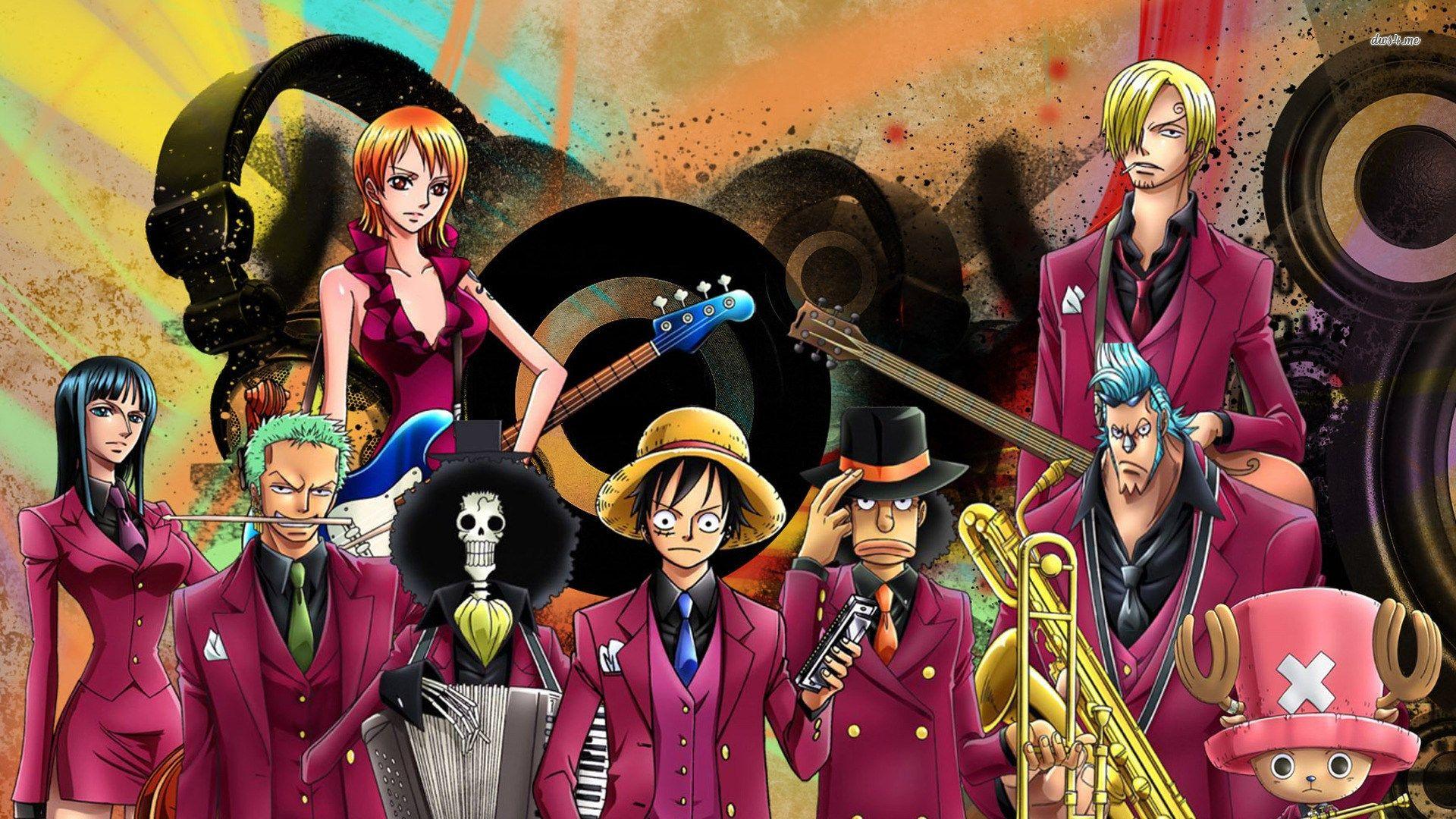 One Piece Wallpaper Hd Background Kartun Animasi Ilustrasi Lucu