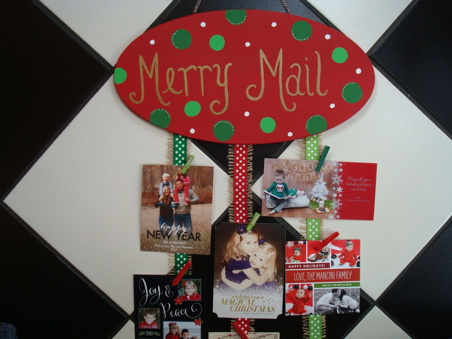 Ready To Shipmerry Mail Christmas Card Holder Greeting Card Holder