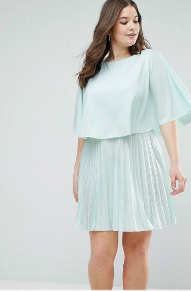 c9cbaa85d04 Cute Plus Size Mint Dress for a Wedding Guest