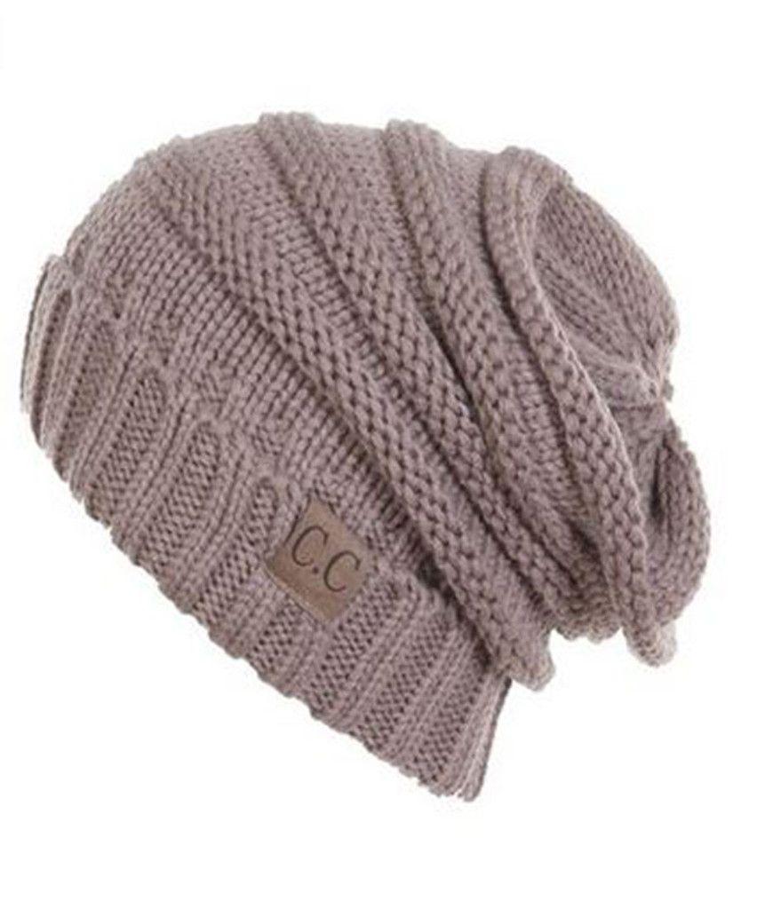 57c49775b4434 Unisex Soft Stretch Oversized Knit Slouchy Beanie (Taupe) – Niobe Clothing