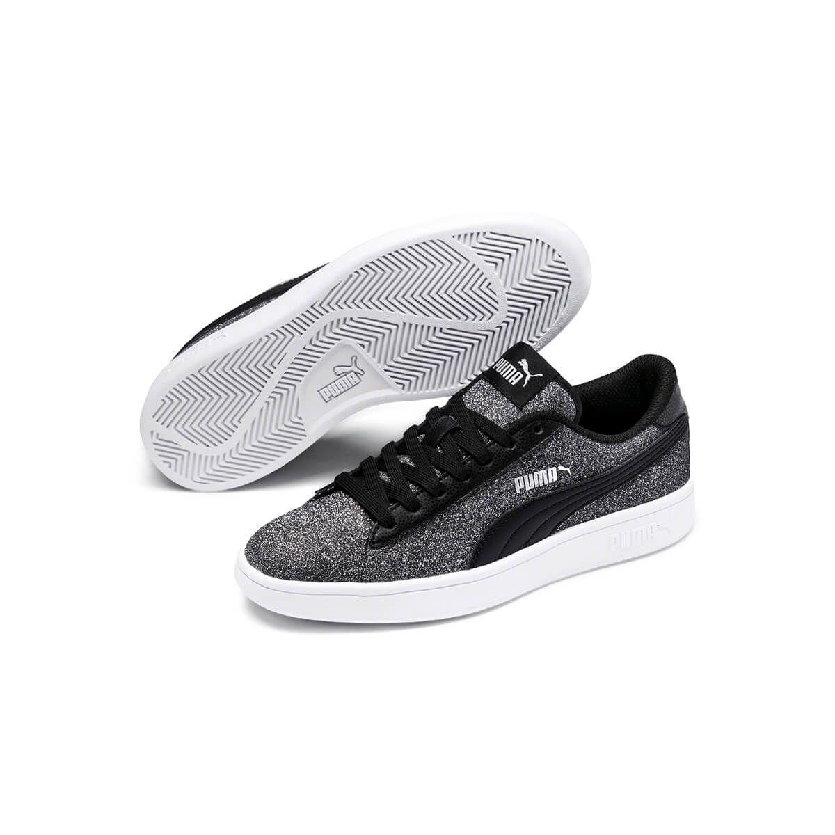eae97797 Puma Puma Smash V2 Glitz Glam Siyah Gri Kadın Sneaker Ayakkabı in ...