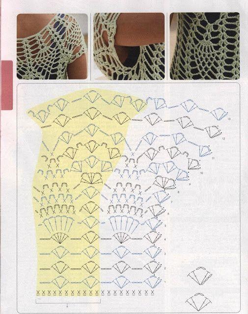 Making this next! Patrones Crochet: Jersey de Red Superposicion de ...