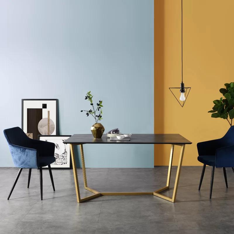 230 Ebern Designs Vanbuskirk Dining Table Wayfair Co Uk Oak Dining Table Contemporary Dining Room Decor Dining Table