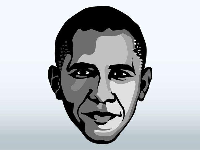Barack Obama Face Vector Free Vector Free Obama Portrait Vector Art