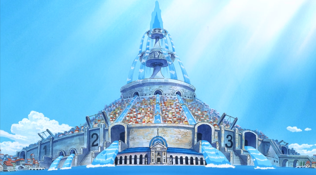Water 7 Is A City In Paradise Known For Its Shipwrights It Is The Main Setting Of The Water 7 Arc And Post Enies Lobby Arc The Straw Hat Pirates Sto Nghệ Thuật